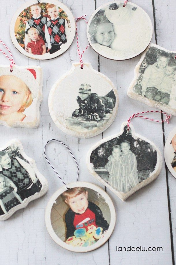 Photo transfer ornament tutorial from tatertotsandjello.com