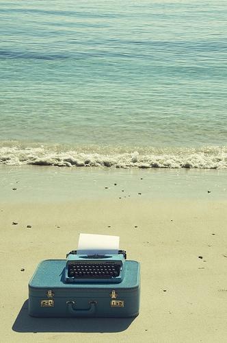 typewriter. Yes! take it to the beach