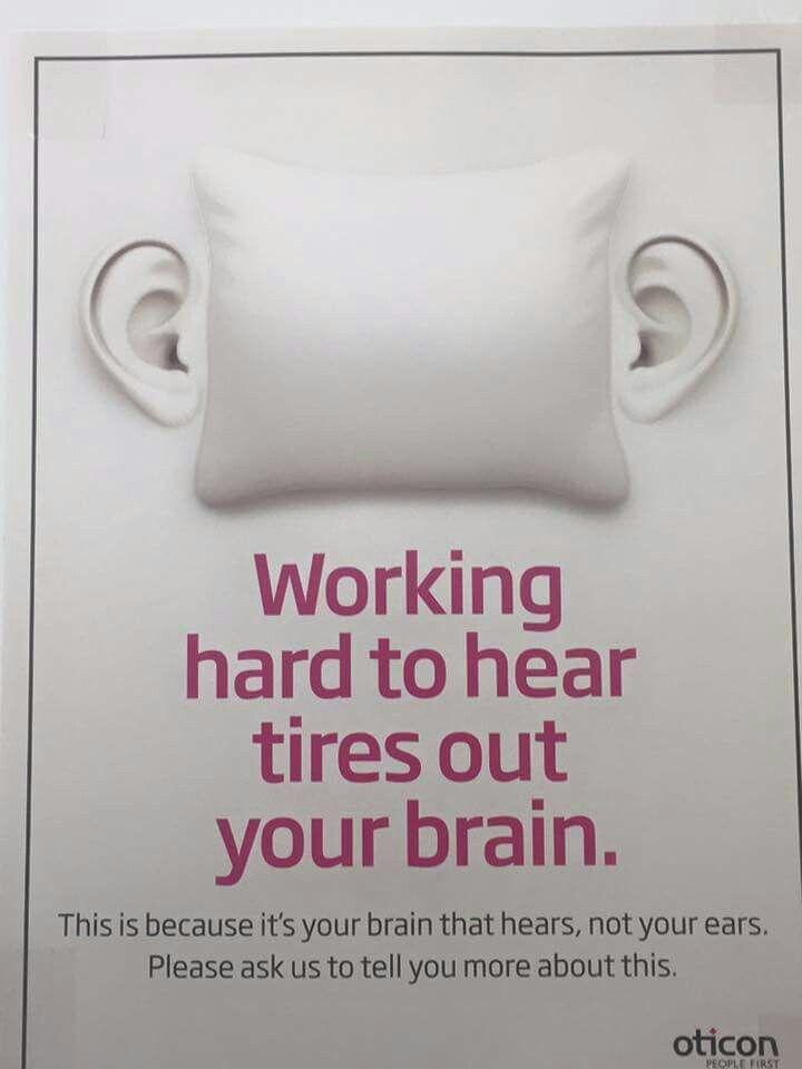 Work hard to hear