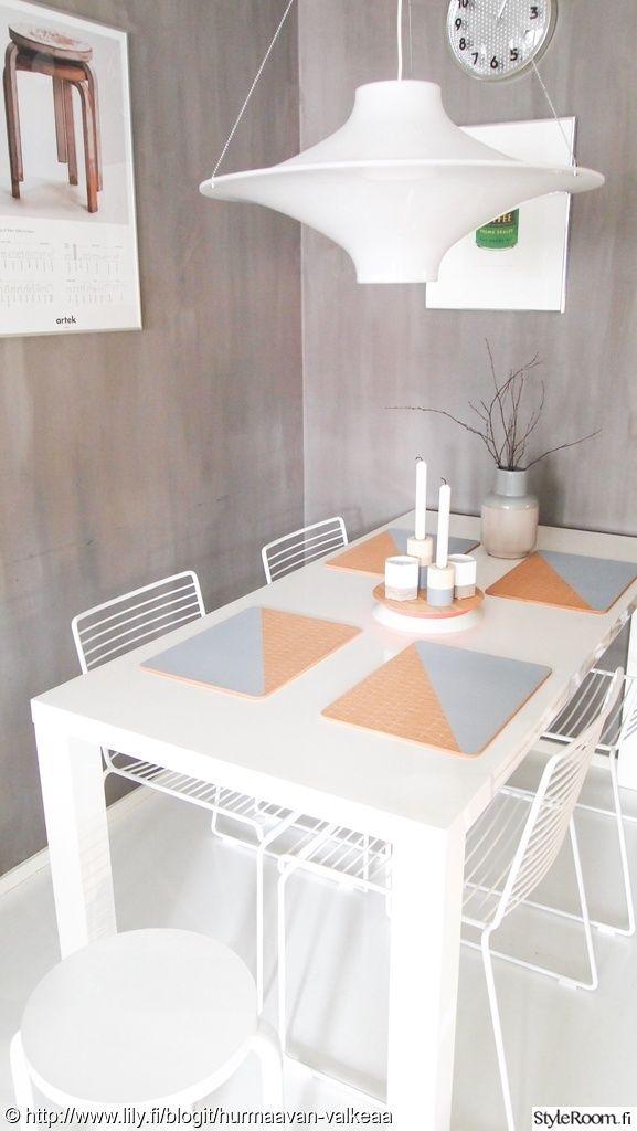 """Jäsenen """"HurmaavanValkeaa"""" ruokailutilassa on kepeät pastellivärit #styleroom #inspiroivakoti #keittio #ruokailutila #sisustus #design #pastellit"""