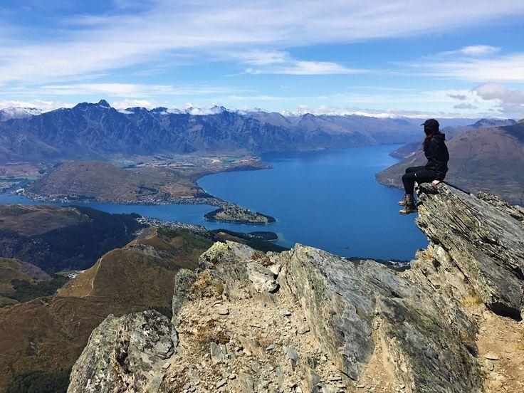 Sitting atop Ben Lomond looking down on Queenstown and Lake Wakatipu.   #newzealand #activenewzealand #hikingnewzealand
