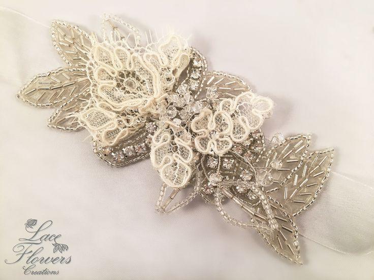 Bracciale sposa/damigella corsage gioiello con strass e pizzo | matrimonio | regalo per damigella bridesmaid