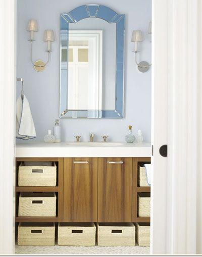 67 best images about bathroom ideas on pinterest toilet - Bathroom vanity storage solutions ...