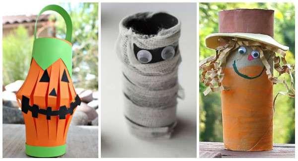 13 bricolages pour Halloween avec des rouleaux de papier toilette