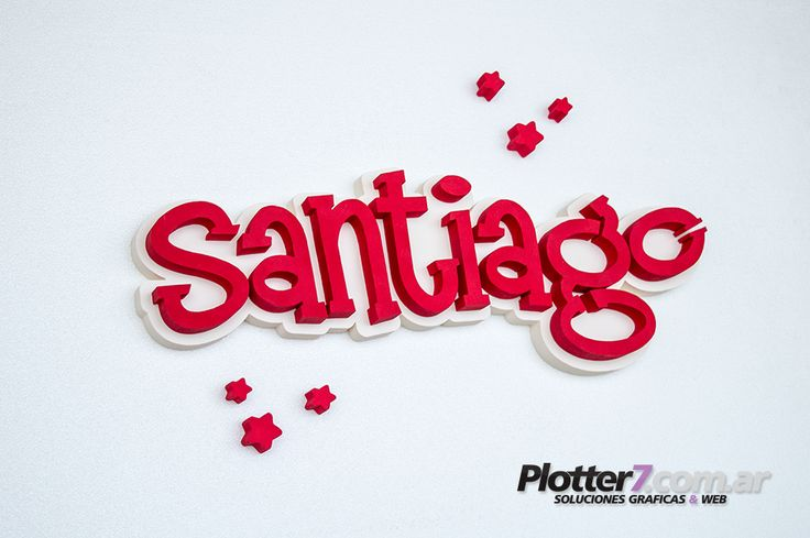 Nombres corpóreos PINTADOS de 58x21cm | Plotter7.com.ar