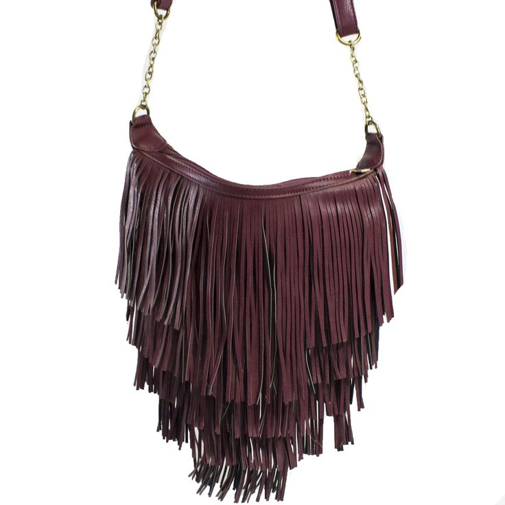 Olivia Fringe Satchel in Red (listed as purple...) | Discount Handbags & Purses | Handbag Heaven