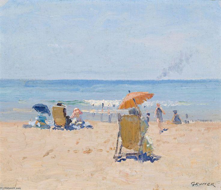 Scène de plage - (1) de Elioth Gruner (1882-1939, New Zealand)