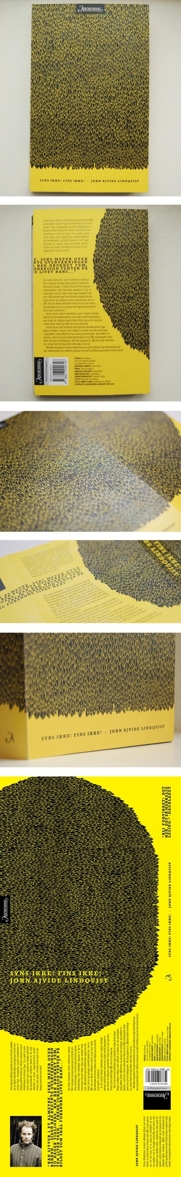 """""""Syns ikke, fins ikke"""" book cover by Sandra Blikås, via Behance"""