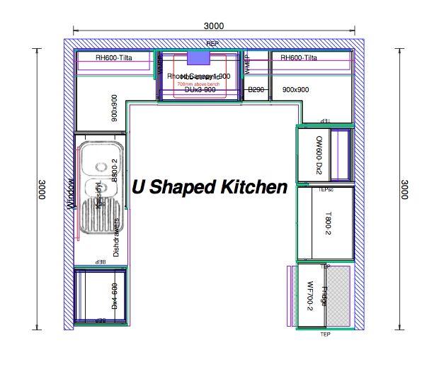 Kitchen design layout kitchen ideas for Kitchen design 8 x 16