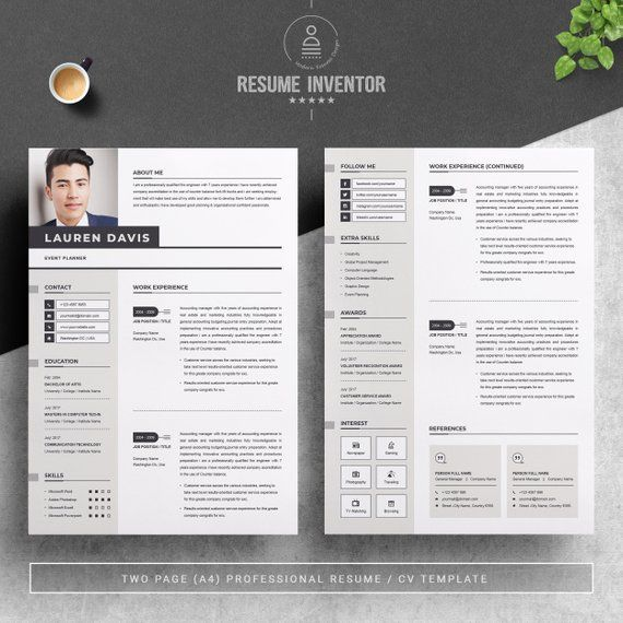 Professional Resume Template For Word Apple Pages Cv Resume Etsy Resume Template Professional Professional Resume Cover Letter For Resume