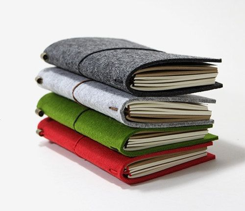 Dark Grey is finally back in stock! Take one home before its sold out again ;) This listing is for: Felt Cover Journal with 2 refills (randomly