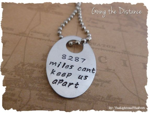 Long Distance Relationship Necklace Choose Your Miles