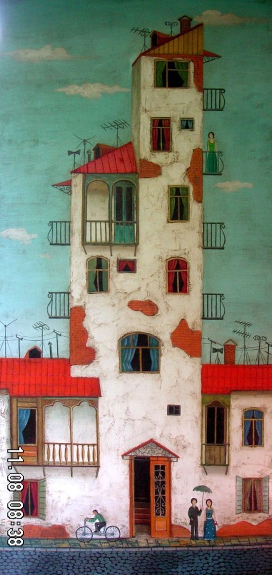 Fine Art Architectural Painting, Artist Study with thanks to David Martiashvili,, Resources for Art Students, CAPI ::: Create Art Portfolio Ideas at milliande.com , Inspiration for Art School Portfolio Work, How to Paint Buildings and Architecture