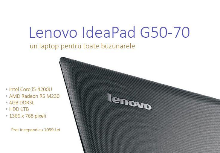 Lenovo IdeaPad G50-70 este disponibil in mai multe variante, avand preturi pornind de la 1099 Lei. http://wp.me/p3boNm-13M