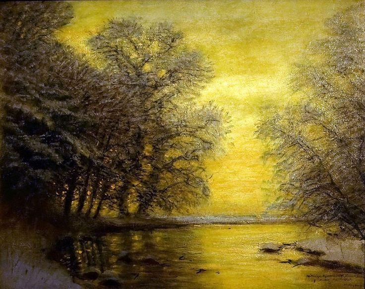 Winter Landscape by László Mednyánszky.