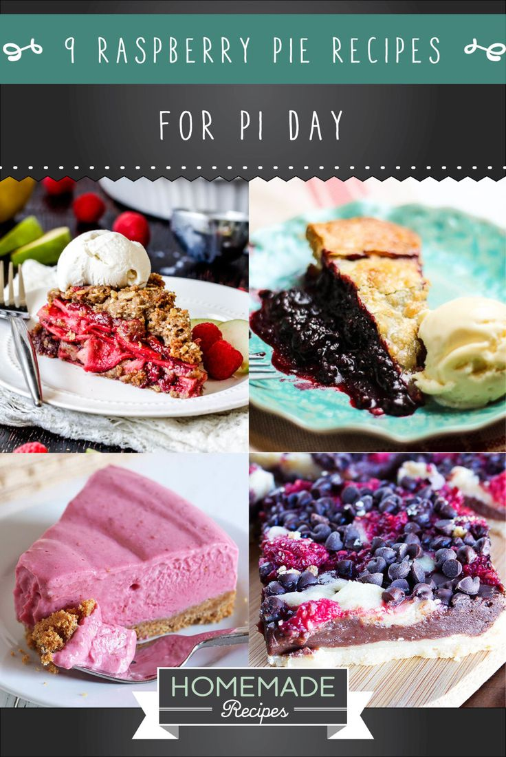 9 Raspberry Pie Recipes To Enjoy For Pi Day | Healthy & Easy Homemade Pie, check it out at http://homemaderecipes.com/raspberry-pie-recipes/