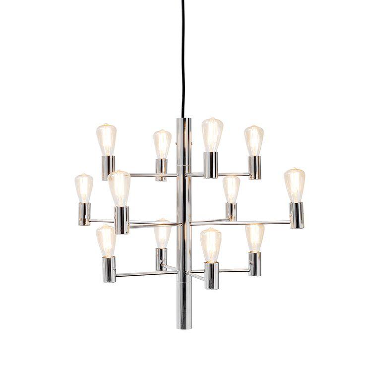 Manola 12 Ljuskrona LED, Krom 3115 kr. - RoyalDesign.se