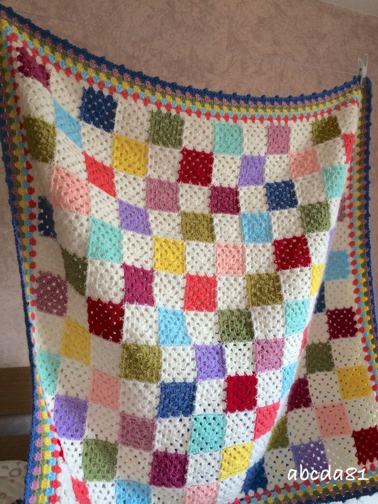 Crochet coperta plaid multicolor  bambino coperta