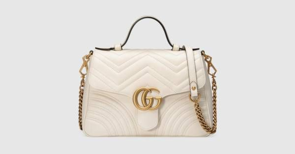 f746c2d8f38f56 GG Marmont small top handle bag - Gucci Women's Top Handles & Boston Bags  498110DTDIT9022