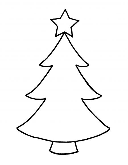 Green Christmas Tree Outline Clipart Clipart Kid ...