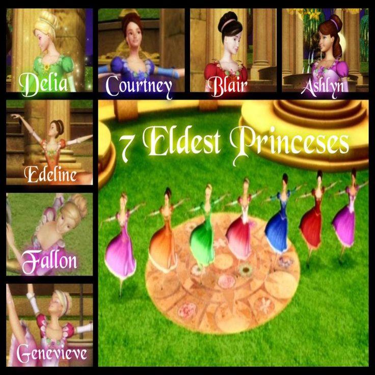 The 7 Eldest Sisters Barbie In The 12 Dancing Princesses