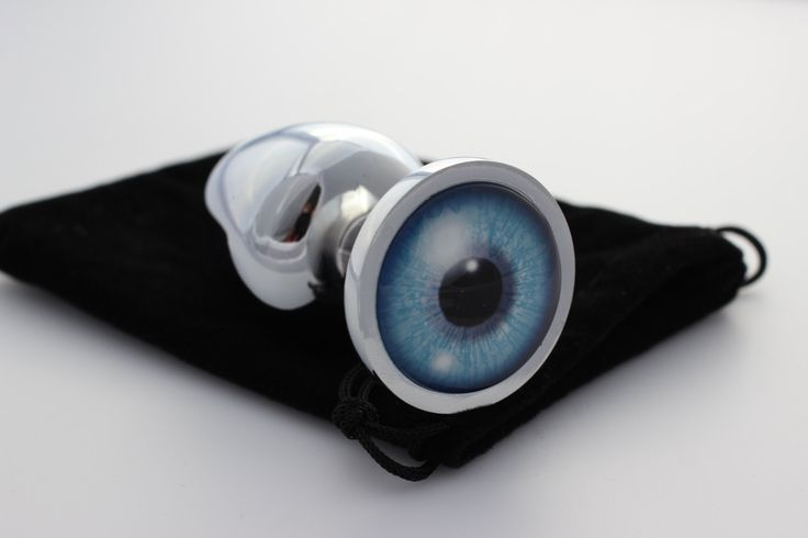 Butt Plug (Blue Eye) - Custom Anal Plug - Adult Sex Toy Jewelry by AltPac on Etsy