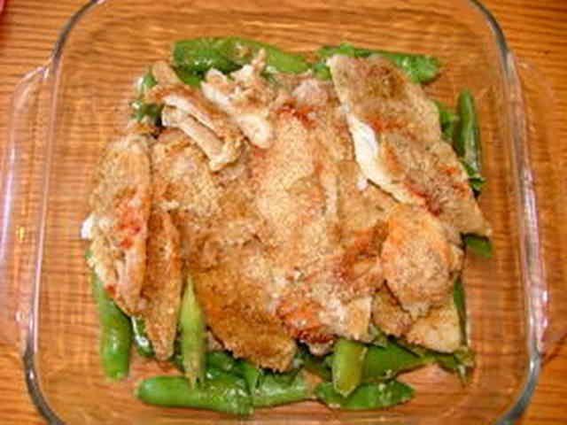 アメリカ 白身魚と野菜のオーブン焼きの画像