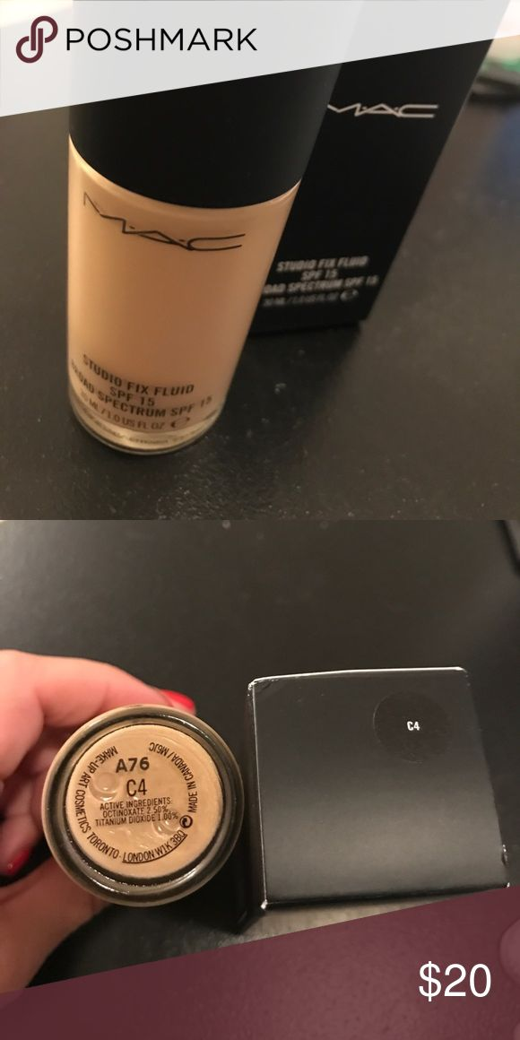 MAC STUDIO FIX FOUNDATION MAC Studio Fix Foundation shade C4. New in box. Never been used MAC Cosmetics Makeup Foundation