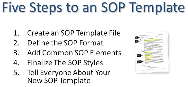 Using a Standard Operating Procedure SOP Template will allow you - sop templates