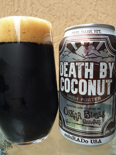 Death By Coconut Irish Porter • Beautiful sweet chocolaty aroma, though I don't find much coconut there. But... coconut flavors are delivered in a huge way, first sip, first impression. An excellent sweet milk chocolate complement comes next, and those two run the show for the entire experience. Light roast, perhaps a hint of coffee and a good hoppy balance at the finish round things out. Pretty delicious though I was expecting a more complex beer, something more. As good as it was...