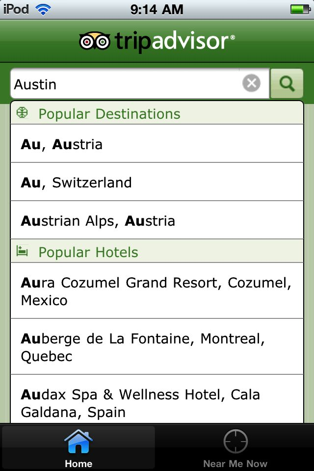 Grouped search results - TripAdvisor