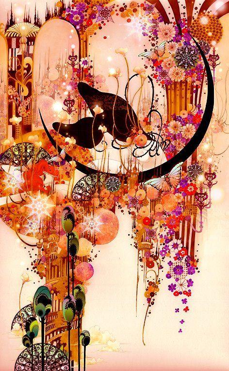 Aya Kato's Art - Cheval Noir