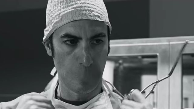 How'd we miss this? Last week, the Italian luxury fashion brand Prada released Past Forward, a nightmarish black-and-white short film directed by David O. Russell that features (among other things) a mouthless Sacha Baron Cohen, a bleached blond Allison Williams, futuristic technologies, Bernard Her