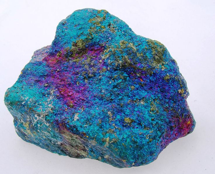This stone is actually called bornite and the miners nicknamed it peacock copper or peacock ore. Bornite has a high copper content. It is the tarnishing of the copper that creates the magnificent iridescent colors in the blues and purples.