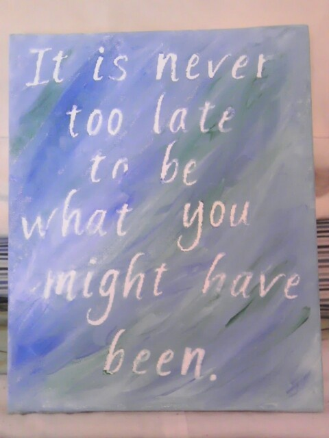 Quick and easy way to paint your favorite quote on canvas! Self-stick letters and paint smears make for a fun weekend or evening project.