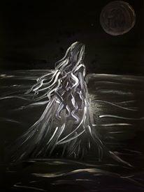 Dark Woman. Acrylic on canvas -  Autore: Gioia Seguso