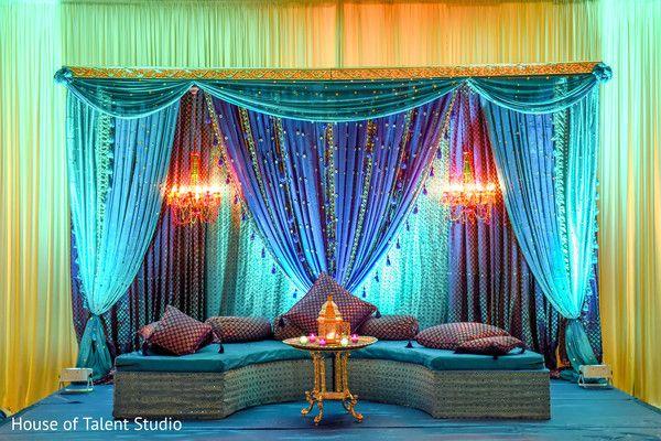 Lovely set up for sangeet party http://www.maharaniweddings.com/gallery/photo/85147 @ElegantAffairs1