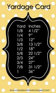 Yardage Card -Handy