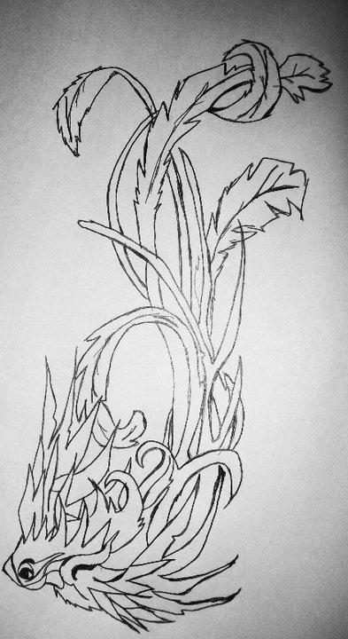 Phoenix Right Upper Arm Tattoo color