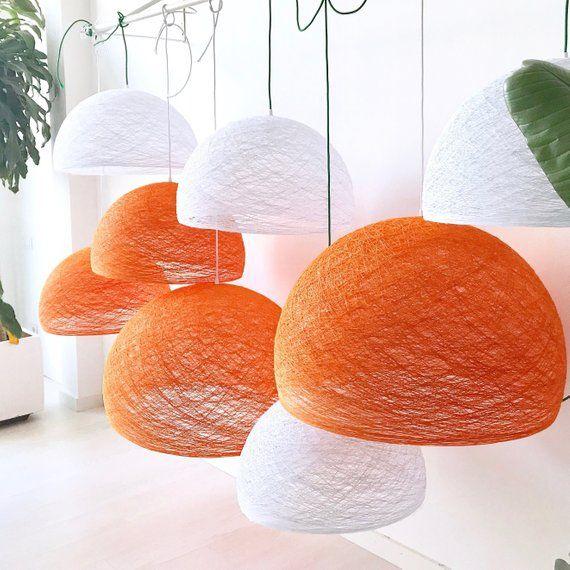 Scandinavian lighting Nordic style – Scandinavian hanging light – Modern hanging lamp – Ceiling lighting – HALF SPHERE (24″ – 60 cm)