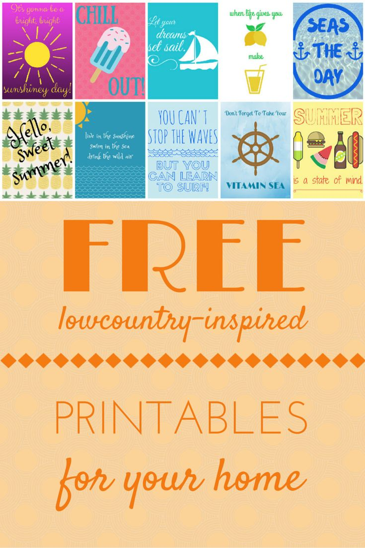 Get #free #printables for your home! Perfect for a gallery wall. #summer #lowcountry #free #art #southern #homedecor #prints #style #beach #inspired #quotes #sea #ocean #sayings #DIY #ideas #coastal #living