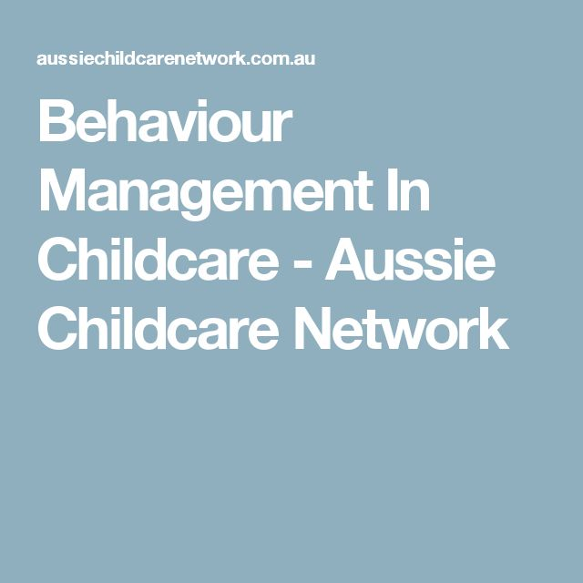Behaviour Management In Childcare - Aussie Childcare Network