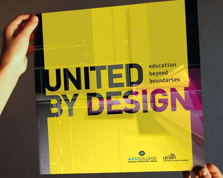 United by design - brochure design for an exhibition in Preston, UK