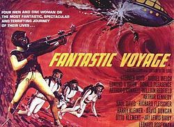 """Fantastic Voyage"" is a 1966 American science fiction film directed by Richard Fleischer and written by Harry Kleiner, based on a story by Otto Klement and Jerome Bixby. The film is about a submarine crew who shrink to microscopic size and venture into the body of an injured scientist to repair the damage to his brain."
