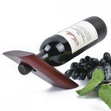 Краткое Дерево держатели Вина Wine Rack Home Decor Бар Пивной Бутылки Вина Держатель Вина Стойки 23.5x7x2.55 см(China (Mainland))