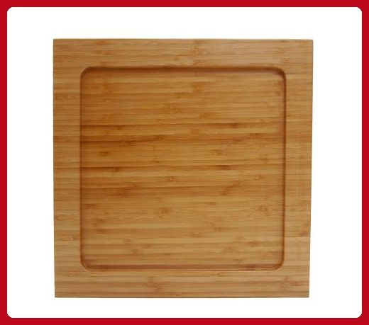 Fortessa 12-Inch Square Natural Bamboo Charger for Fortessa Superwhite Pattern Plaza 10-3/4-Inch Square Plates, Set of 6 - Improve your home (*Amazon Partner-Link)