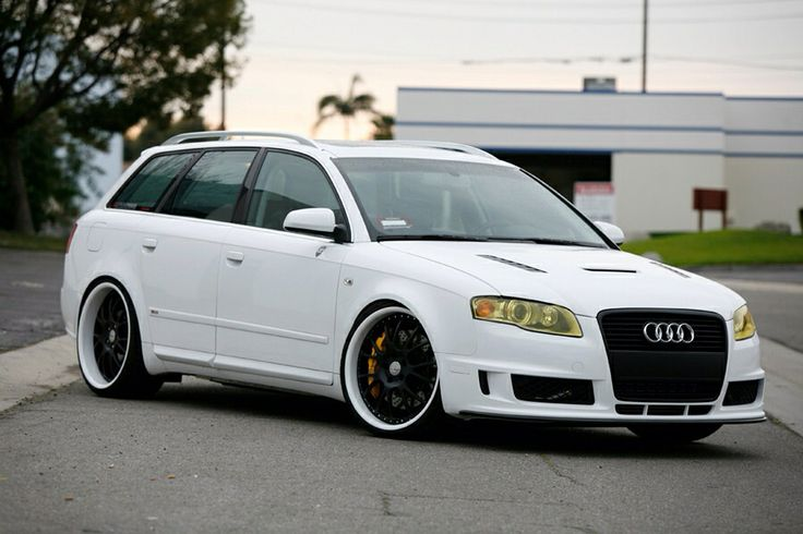 My old 2007 Audi A4 Avant with a DTM S4 front bumper