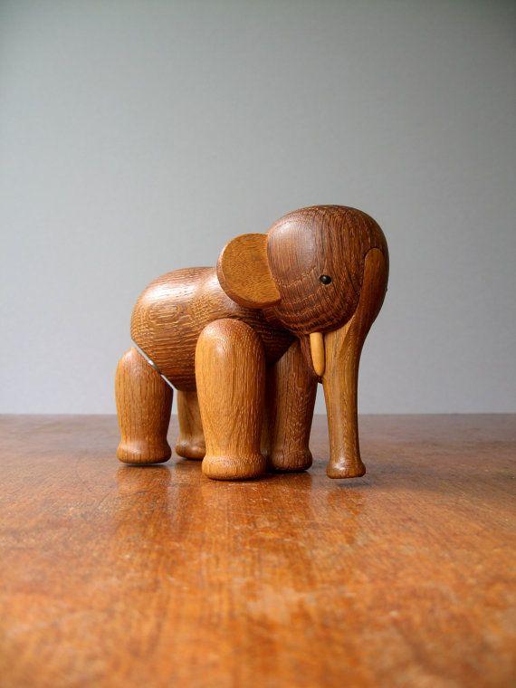 Danish Modern Wooden Toy - Kay Bojesen Elephant
