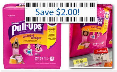 $2.00 Pull-Ups Coupon, Only $6.97 at Walmart!