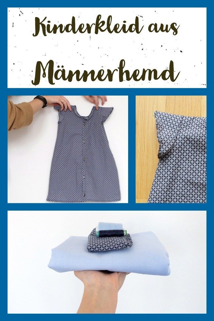 Recycling: Kinderkleid aus Männerhemd – juulee – Conny Düning